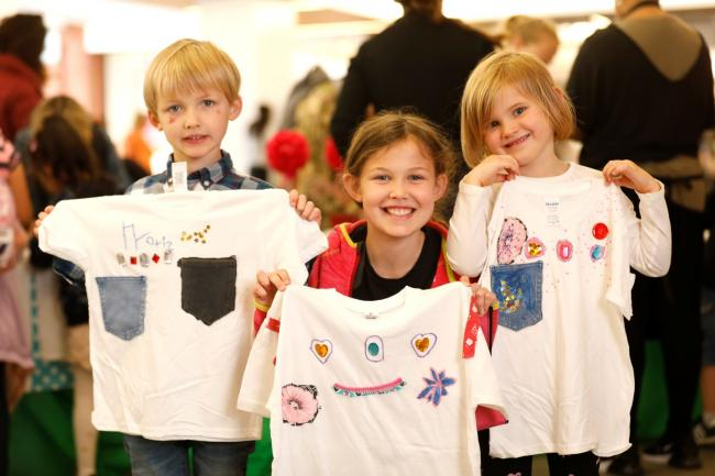 All our own work: youngsters were able to upcycle T-shirts